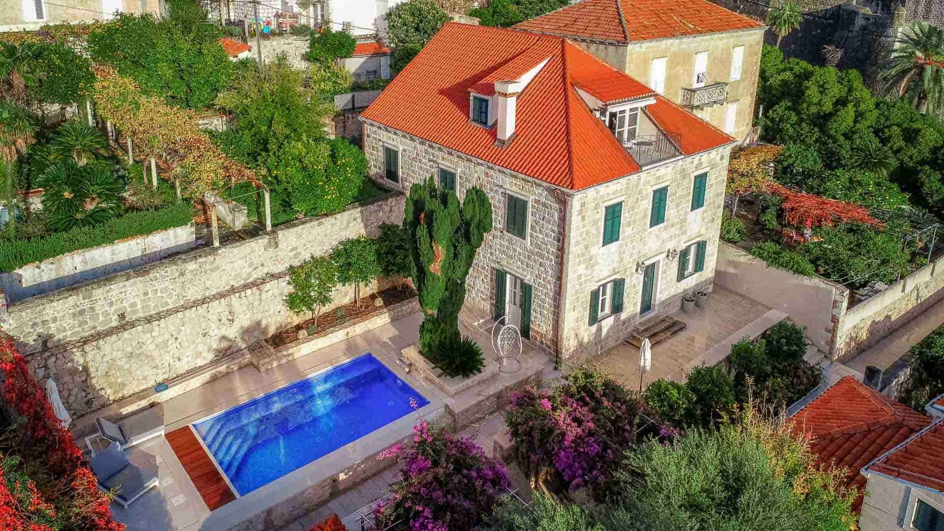 Jedinstvena vila s  bazenom i pogledom na Dubrovnik