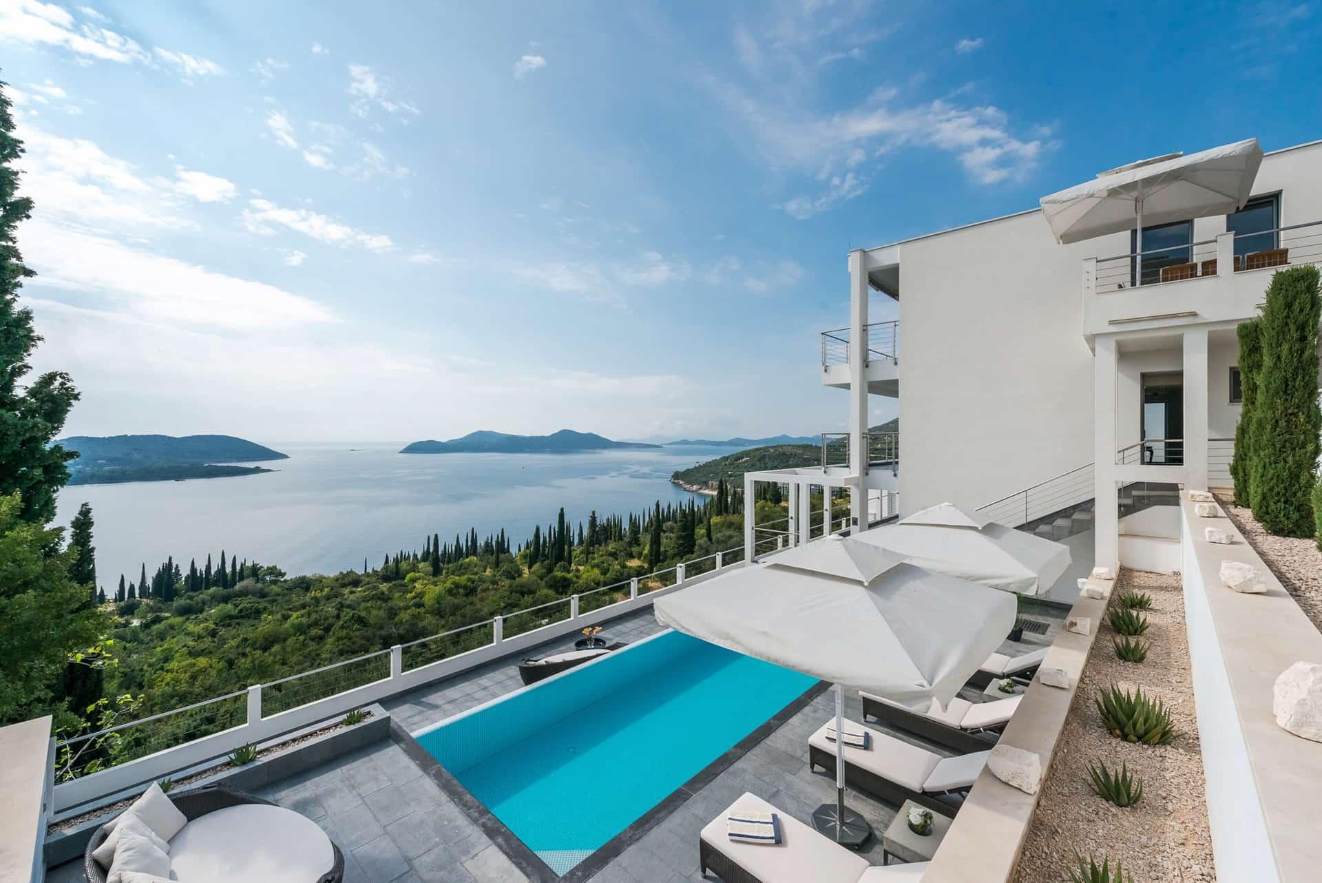 Luksuzna vila blizu Dubrovnika s bazenom